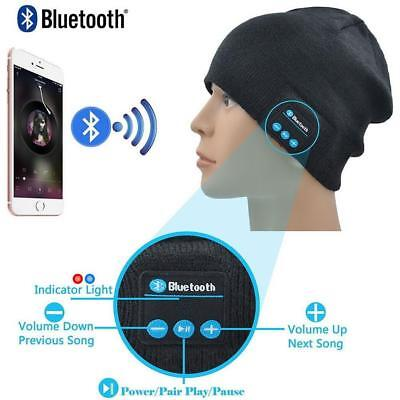 Warm Beanie Cap Wireless Bluetooth Hat Music Head Cap Headset Headphone Speaker