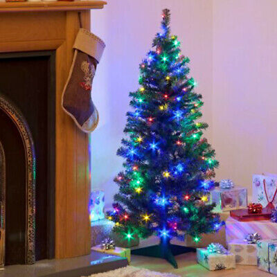 Pre Lit Artificial Christmas Tree 5FT  With Stand LED Fairy Lights Xmas Party AU