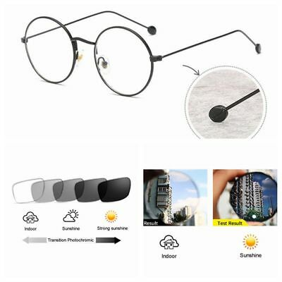 40872fc8e1721 Small Vintage Round John Lennon Transition Photochromic Reading Glass  +1.0~+4.0