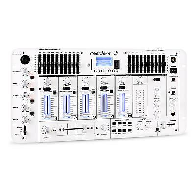 Mengpaneel Resident Dj Kemistry 3 Table De Mixage Pro Dj Bluetooth Usb Sd Blanc