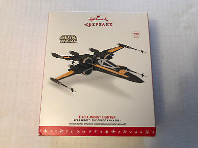 NEW '16 Hallmark Keepsake Ornament w Sound - Star Wars - T-70 X-Wing Fighter