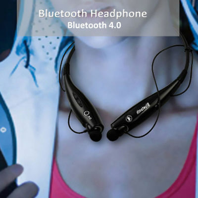 Bluetooth Wireless Headphone Headset Ear Stereo Sports Gym With Neck Strap 2018