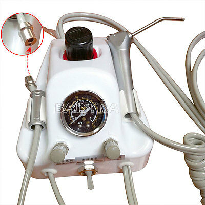 Portable Turbine Unit+Air Water Syringew/Bottle Foot Pedal Dental 2 Holes AZDENT