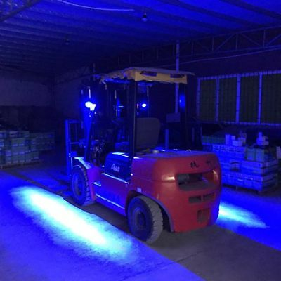 3 of LED safety zone warning light - BLUE - FORKLIFT - CRANES - SAFETY