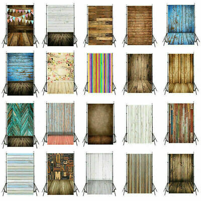 AU Retro Wood Theme Vinyl Photo Backdrop Studio Wall Photography Background Prop
