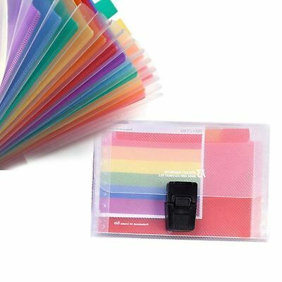 2X(13 Pocket Folder Office Expanding File Colorful Organizer Document T3A3)
