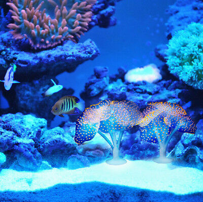 Fluorescent Safe Silicone Artificial Simulation Coral Plant For Fish Decoration