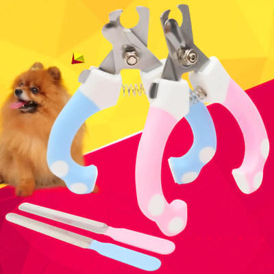 Pet Dog Cat Nail Toe Claw Pink Clippers Scissors Trimmer Cutter Grooming Tool