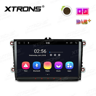 "AU STOCK! 9""Android8.1 Car Stereo 1DIN BT GPS NAVI Radio DAB+ Head Unit For VW"