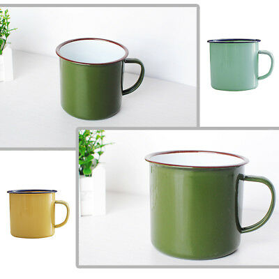 1 x ENAMEL MUG TIN CUP TRAVEL TEA COFFEE TRADITIONAL STYLE FOR CAMPING