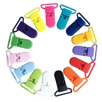 10PCs Colored Plastic Suspender Soother Pacifier Holder Dummy Clip For Baby