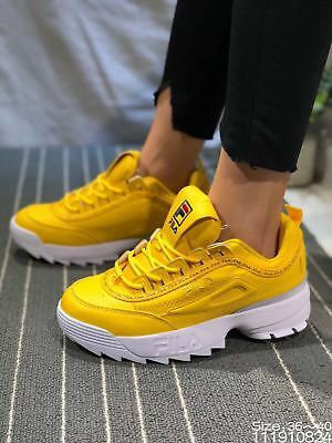 2019 YELLOW Fila Disruptor II Synthetic Low-top Athletic Fashion Mens  Trainers a6dac4fec3c