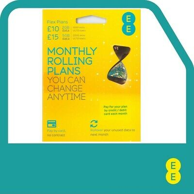EE Flex Plan Sim Card - Complete Freedom, No Contract, No Remembering to Top Up