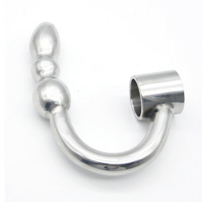 UK-Fast-Ship Stainless Steel Shaft Ring with Beaded Arm Toys A348