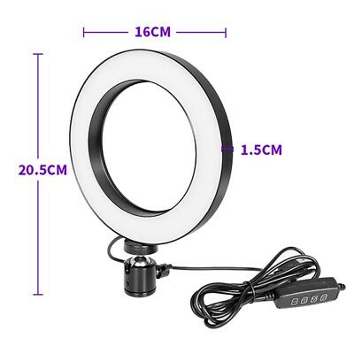 15cm Dimmable LED Ring Light with Stand Lighting for Youtube Live Makeup Video