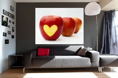 APPLE HEART FOOD DRINK FOOD LOVELY  ART WALL ARTS high quality Canvas home decor