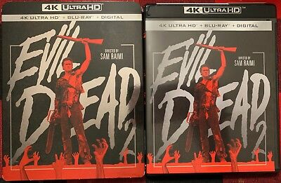 Evil Dead 2 4K Ultra Hd Blu Ray 2 Disc Set + Slipcover Sleeve Free World Shippin