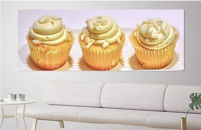lemon-cupcake-coconut-sweet-food- ART WALL ARTS high quality Canvas home decor