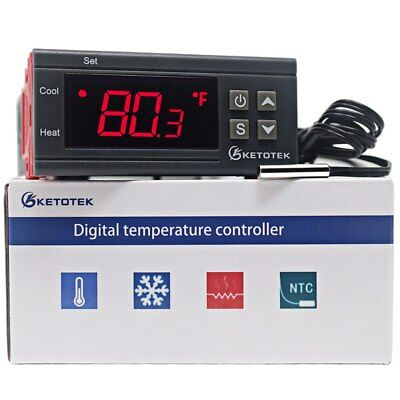 Digital KT1000 Temperature Controller C/F Thermostat 10A Two Relay Output