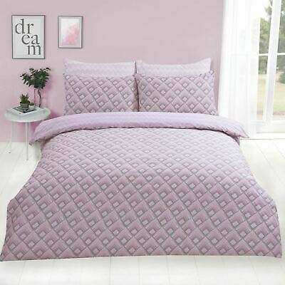 Dreamscene Warrior Duvet Cover with Pillow Case Geometric Bedding Set Blush Pink