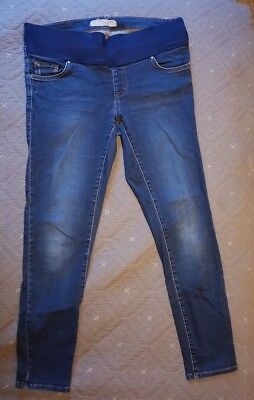Topshop Maternity Jeans 10 Leigh Mid Blue Leg 30 Under Bump