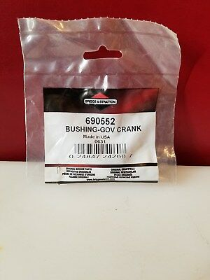 Original Packaging Genuine Briggs /& Stratton Crank Bushing 690552 NEW