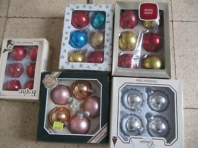 Job Lot of Vintage Glass Christmas Baubles