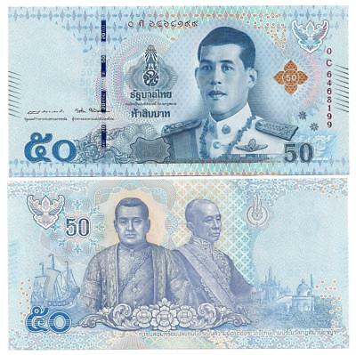 Thailand 50 Baht 2018 Type Ii King Rama X Unc P New