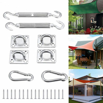 8x Stainless Steel Sun Sail Shade Canopy Fixing Fittings Hardware Accessory RMT