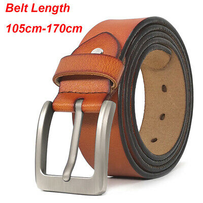 """Mens Belts Big and Tall Size 28""""-64"""" Genuine Leather Belts for Jeans Gift Belts"""