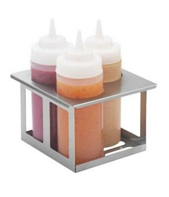 Server Products 87535 Stainless Triple Unit Cold / Warm / Tabletop Bottle Holder