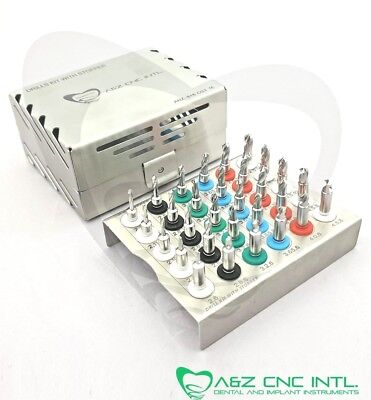 Dental Implant Twist Drills with Integral Stoppers Kit / 30 PCs Stopper Drills