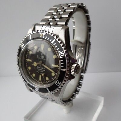 7928 Rolex TUDOR Submariner  1963 stunning patina dial, Pointed crown guards.