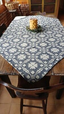 "NEW Family Heirloom Weavers throw or table square ""FANCY SNOWBALL"" pattern"