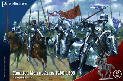 28mm PERRY WR 40 MOUNTED MEN AT ARMS 1450-1500 BRAND NEW MINT