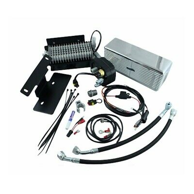UltraCool RF-2SS Stainless Steel Oil Cooler Kit 09-16 Harley-Davidson Touring