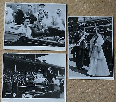 Australia, Queen in Melbourne on Royal Tour 1954, 3 Fox Photo's Ltd, 20x 15cm.
