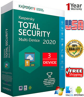 Kaspersky TOTAL Security 2019 3 Device/ 1 Year / Win-Mac-Android / REGION - US