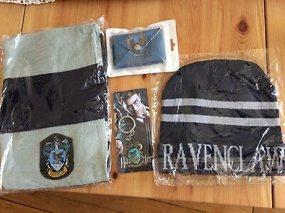 HARRY POTTER GOODIES : RAVENCLAW scarf, hat, key ring & wallet