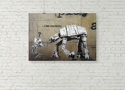 Banksy I/'m your Father star wars poster  A2 SIZE