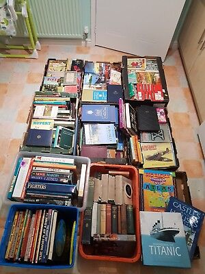 Job lot of books - 100's of Classic, Vintage Books in 10 boxes crammed full.