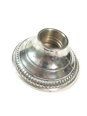 Vintage 2¾-Inch Weighted CROWN STERLING SILVER CANDLESTICK /BASE, 1¼-Inches Tall