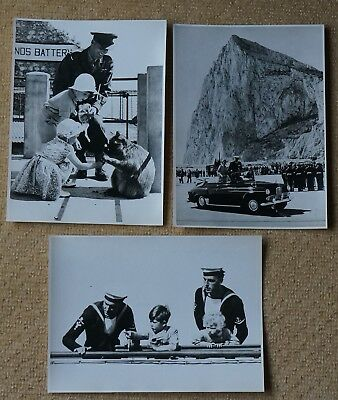 Gibraltar, Queen in Gibraltar on Royal Tour 1953/4 3 Fox Photo's Ltd, 20 x 15cm.
