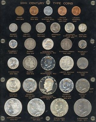 20th Century Type Coins Set - Coin Collection - CB467