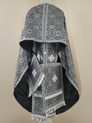 Priest Orthodox Vestment, Black And Silver. New L, Made In Ukraine