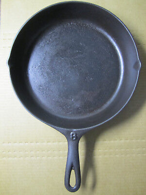 Antique Vintage 1800's #8 Cast Iron Skillet Gate Marked Clean Free Shipping!
