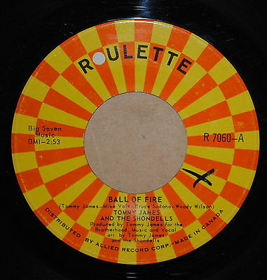 Tommy James and The Shondells Ball of Fire / Makin Good Time 1969 Rock 45