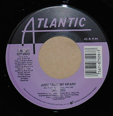 Mr. Big Just Take My Heart / Road To Ruin 1991 Rock 45 on Atlantic