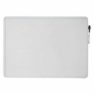 School Smart Dry Erase Board, 16 L x 22 W in, White Frame, Horizontal/Vertical