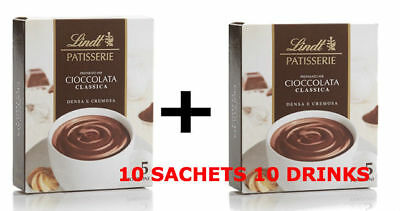LINDT HOT CHOCOLATE Drink Sachets COSTA RARE DATED 2020 FREE SHIPPING 10 PACK